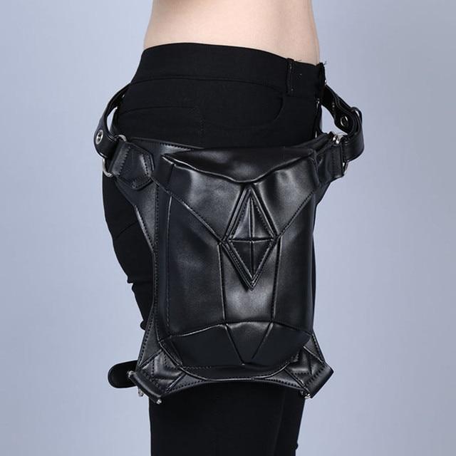 Shoulder Backpack leather Steampunk bag Holster Purse carteras mujer thigh Motor leg Outlaw Pack Pocket women bag Steam punk bag