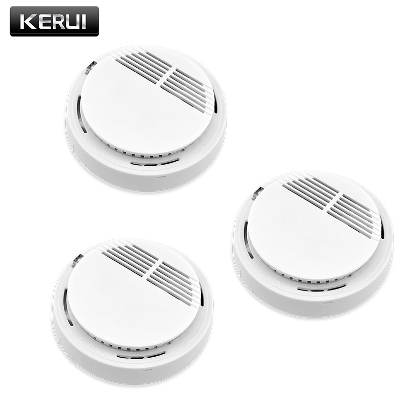 KERUI 3PCS Wireless Fire Smoke Detector Sensor Home Security Alarm For Family Guard Office Building Restaurant
