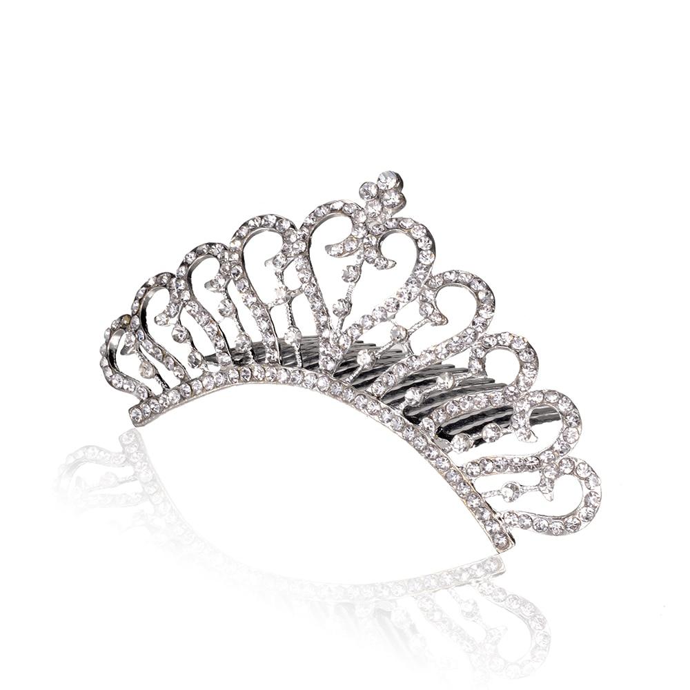 7876d24f36 Tanie Nowe Mody Ślubnej Diadem Elegancki Rhinestone Panny Młodej ...