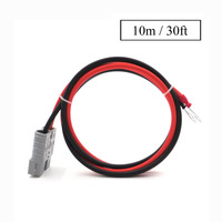 30FT SH50 Plug 50A 600V 10meter Extend cable solar cable Connect 2.5mm2 with M8 terminal ring Battery lug bolt tab
