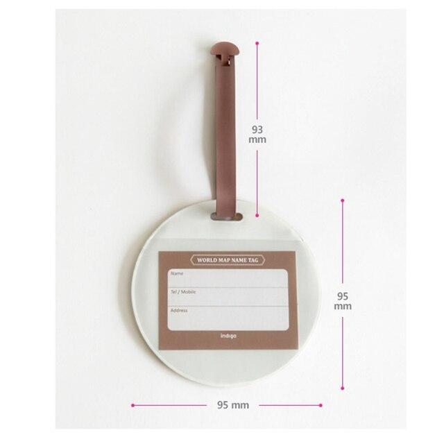 Fashion Map Luggage Tag Women Travel Accessories Silica Gel Suitcase ID Address Holder Baggage Boarding Tag Portable Label Bag 5