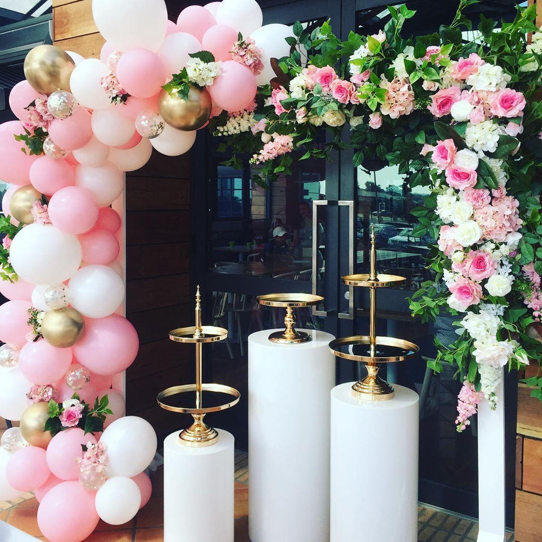 3 pièces acrylique blanc plinthe ronde décoration de mariage fête et vacances bricolage décorations