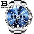 BINGER Männer Automatische Mechanische Uhr Luxus Mode Marke Edelstahl Mann Multifunktionale Leucht Wasserdichte Uhren
