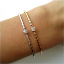 Mujer Vintage Face Rushed Hot Sale Pulseiras 2019 Adjustable Simple Single Bling Cz Silver Color Girl Women Fashion Cuff Bangle