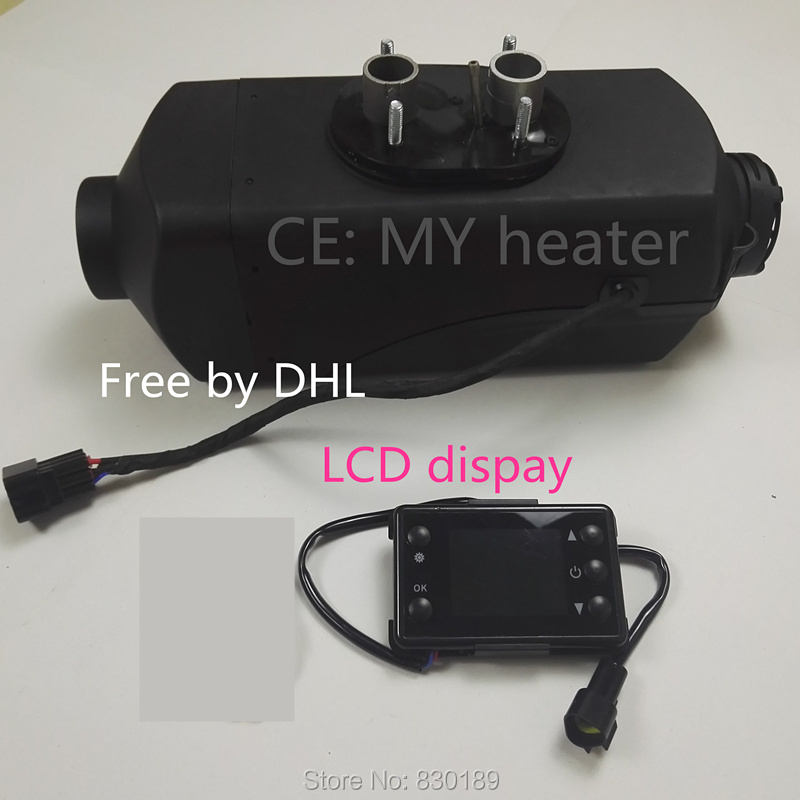 (Free shipping by dhl) 2 KW 12V /24V air parking heater for truck Boat Rv - similar to Snugger, Webasto diesel heater. external temperature sensor for air 5000 w parking heater similar to webasto diesel heater