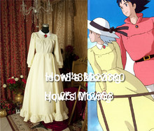 Castello errante di Howl Sophie Hatter Giallo Cosplay dress(China)