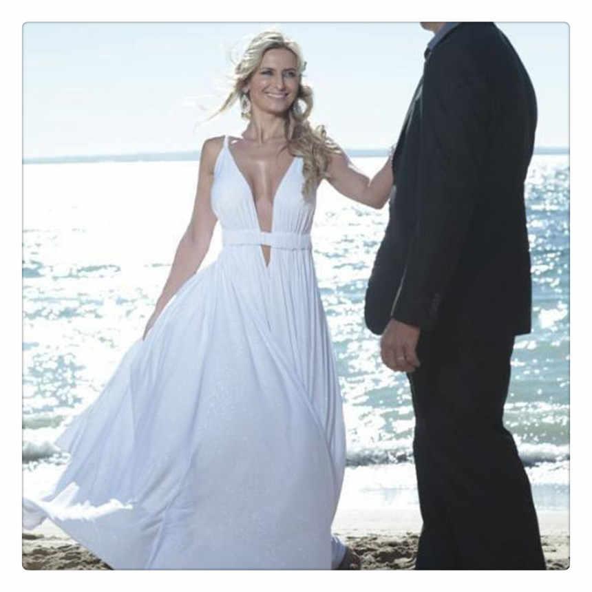 Lorie White Beach Wedding Dresses 2019 Robe Sleeveless Simple Boho Wedding Gown Chiffon Plus Size Bride Dress Custom Made
