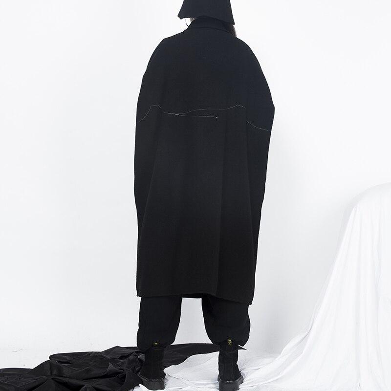 La Black Taille Plus Peut Manteau Laine Getsirng Manteaux Veste Lâche Grande Femmes D'hiver De Chaud Porter Hommes Également Épais zzfqRT