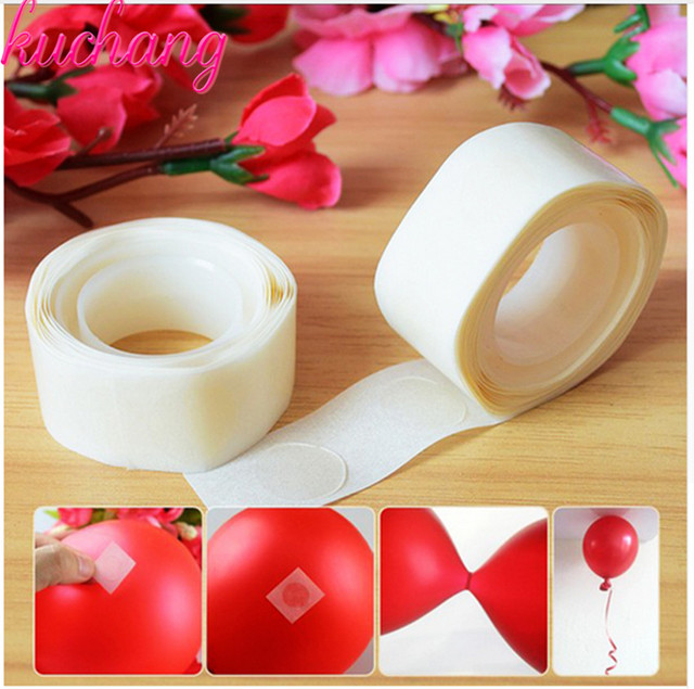 200PCS/LOT Removable Balloon Glue Wedding Birthday Decoration Attachment Glue Dot Foil Balloons Party Supplies globos Party