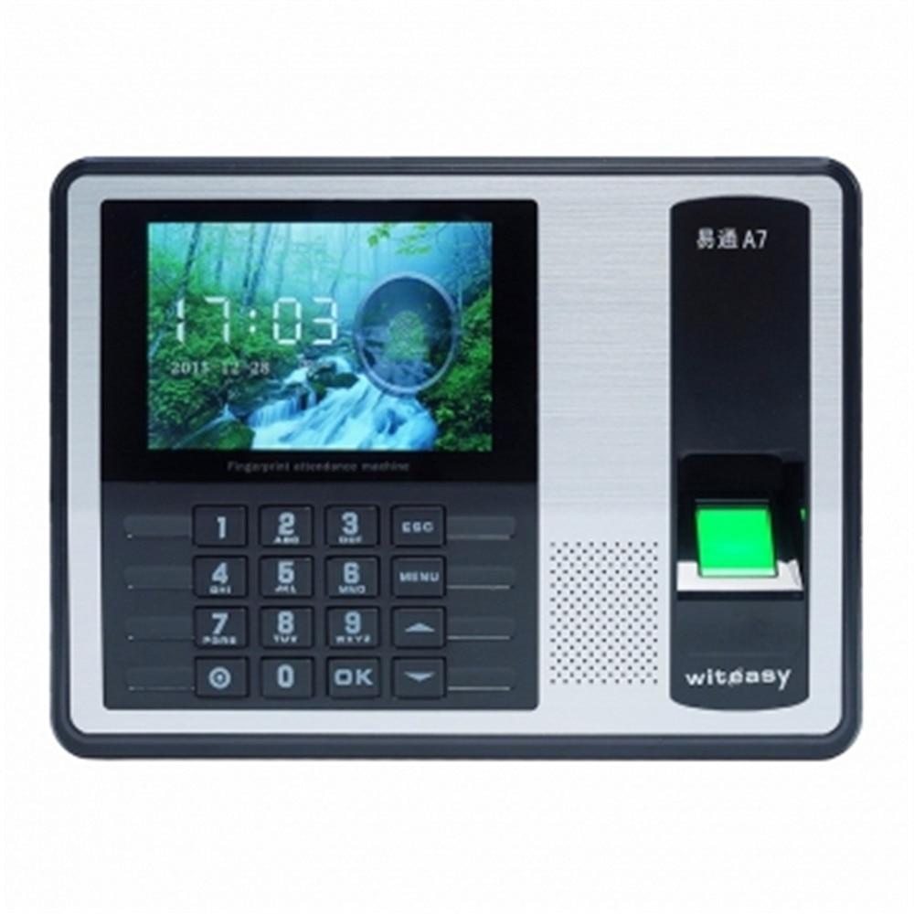 .4 Inch TFT Monitor 1000 User  Fingerprint/Password Time Attendance A7 title=