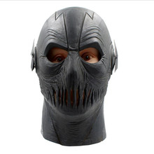 The Flash Mask DC Movie Cosplay Costume Prop Halloween Full Head Latex Party Masks BLACK Costume