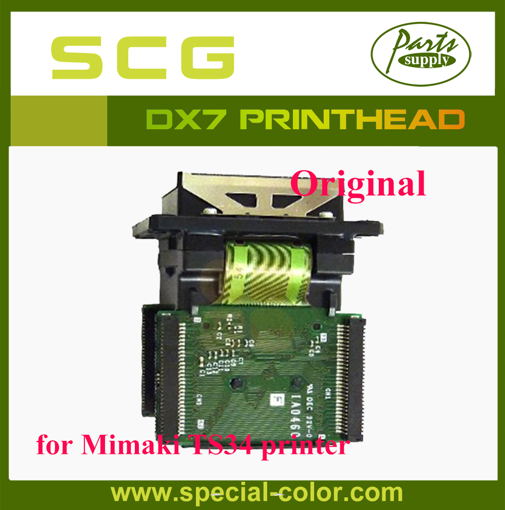 Hot sale!! 100% Original Mimaki TS34 Solvent Printhead DX7 solvent printhead hot sale 100% original english panel for launch cnc602a injector cleaner