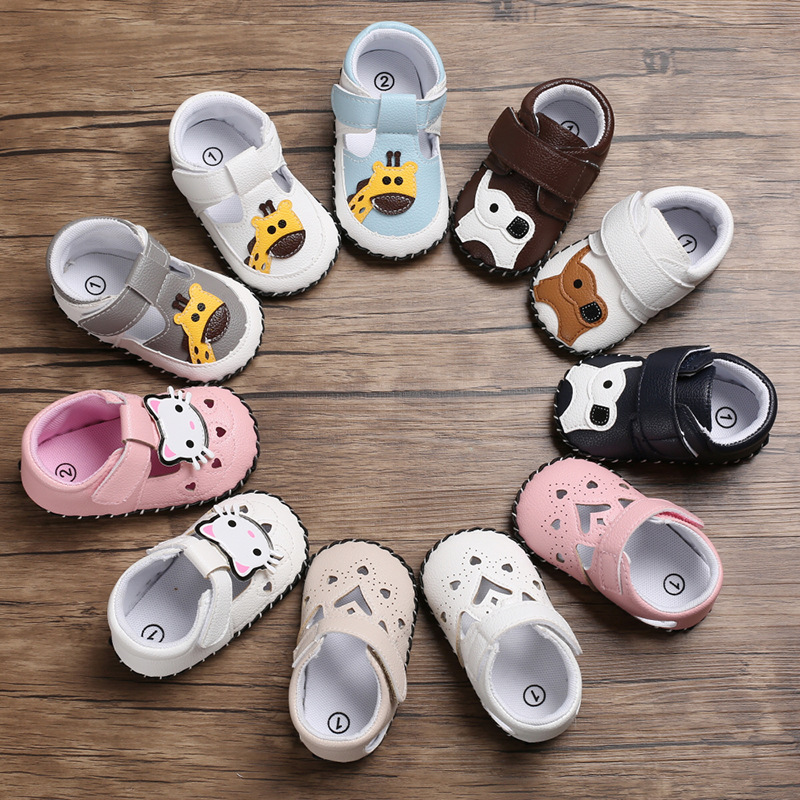 Cartoon Men And Women Rubber Sole Anti-skid Toddler Shoes