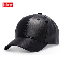 Brand UNIKEVOW Faux Leather Baseball Cap Unisex Outdoor Snapback Hat Autumn Winter solid Caps Hip Hop hats for men high quality