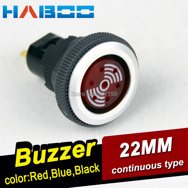 HABOO HBD series electronic buzzer ultrathin fashion head 16mm / 22mm round ,rectangular head Continuous alarm buzzer