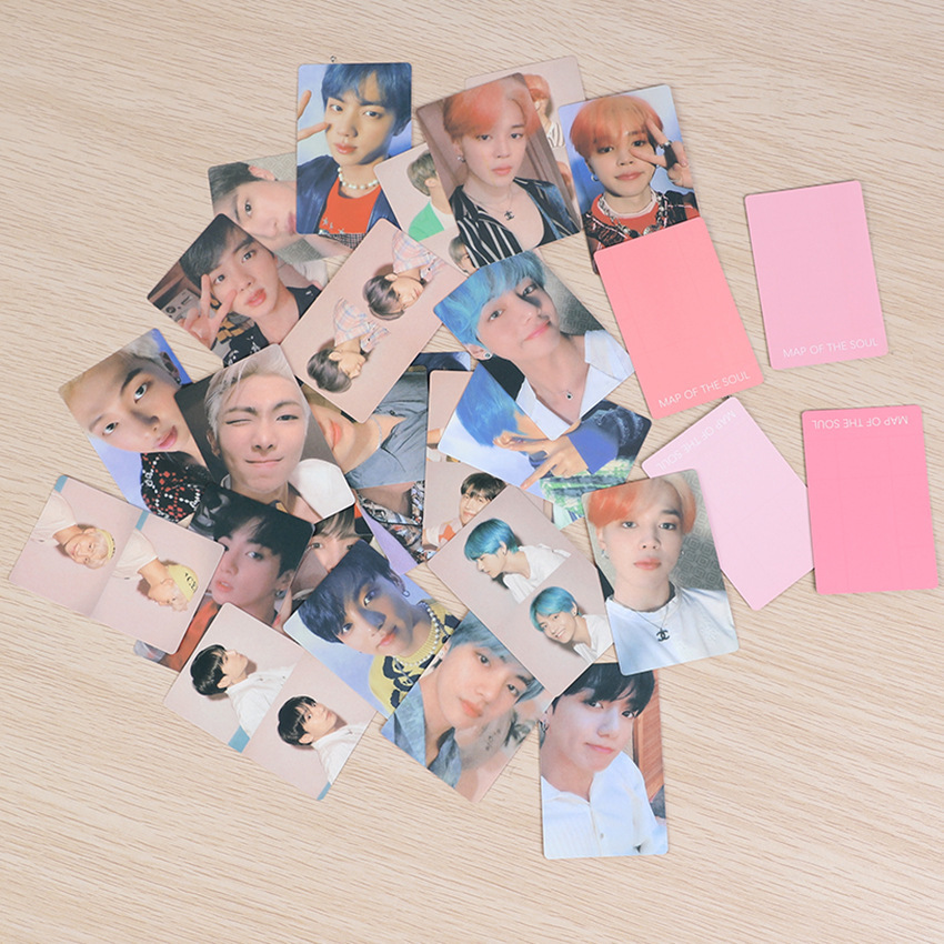 Lomo-Cards Album Paper Signature LUV Jungkook Boys Suga Kpop Bangtan HD WIHT 4pc/7pc/set