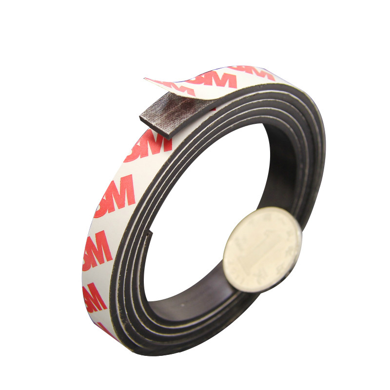 Aoshike 5M 1M Stripe magnets Rubber soft magnet 10*2MM strong magnetic tape for diy Office family school 1m 50x 1 5 mm rubber self adhesive magnetic stripe flexible magnet diy craft tape for shop office home school file