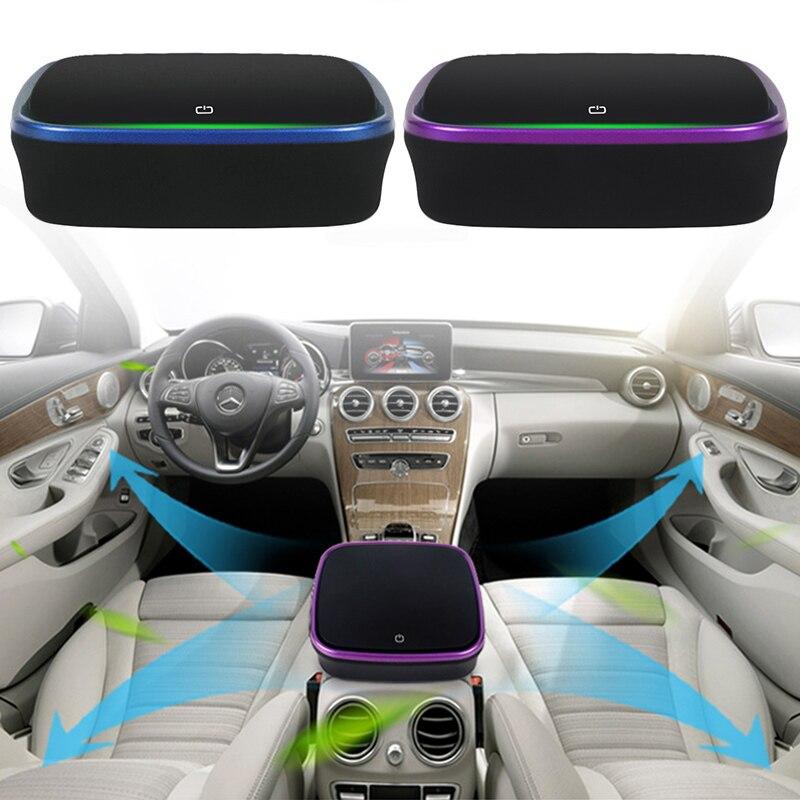Car Air Purifier 12V Anion Air Cleaner Ionizer Air Freshener Auto Mist Maker Pm2.5 Eliminator Cup XNC