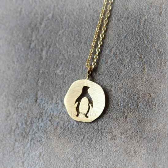 חרציות הגעה חדשה זהב כסף מגזרת פינגווין תליון שרשרת חמוד בעלי החיים פינגווין קולייר הטוב ביותר חבר מתנה הצהרת שרשרת