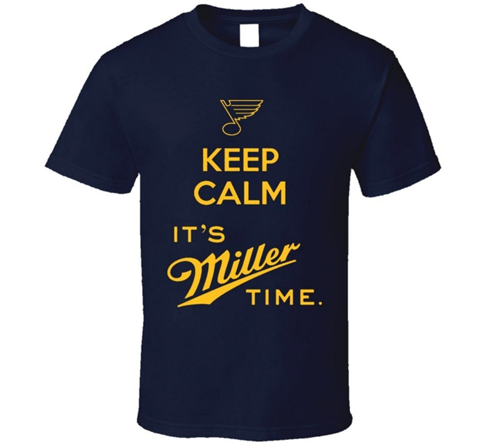 zappos shirt company 2017 Streetwear Short Sleeve Tees St Louis Its Miller Time Ryan Miller Blues T Shirt printed t shirt  men t shirt casual tops