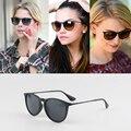 Dokly Mujeres Erika Revestimiento Reflectante gafas de Sol de Marco de Metal Espejo Lente Plana Diseñador de la Marca Gafas de Sol Gafas De