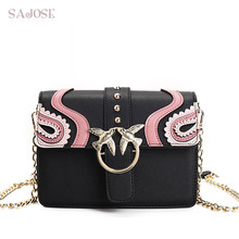 Crossbody Bags For Women High Quality Chain Luxury Famous Brand Lady Pu Leather Shoulder Bags Flap