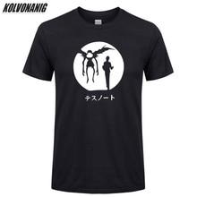Summer 2019 Death Note Popular Cartoon Anime T Shirt Men Fashion High Quality Pure Cotton Streetwear Casual Men's T-Shirt Tops printio slow death t shirt