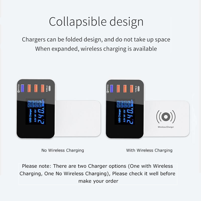 Quick Charge 3.0 Smart USB Type C Charger Station Wireless Charger (13)
