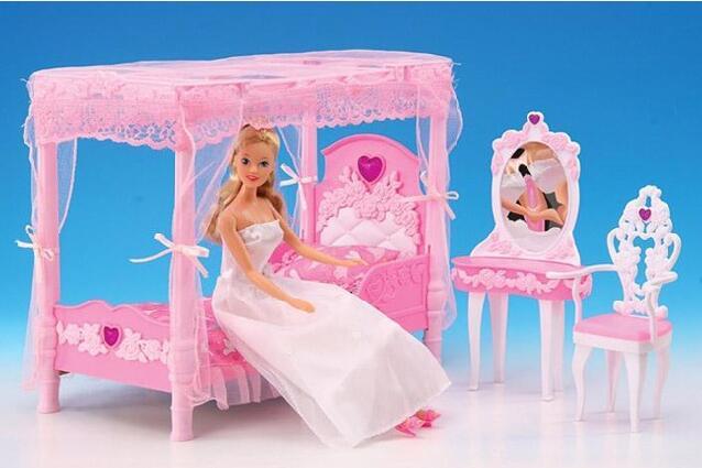 casa de ensueo de lujo original para barbie princesa muebles set kit de accesorios de tocador