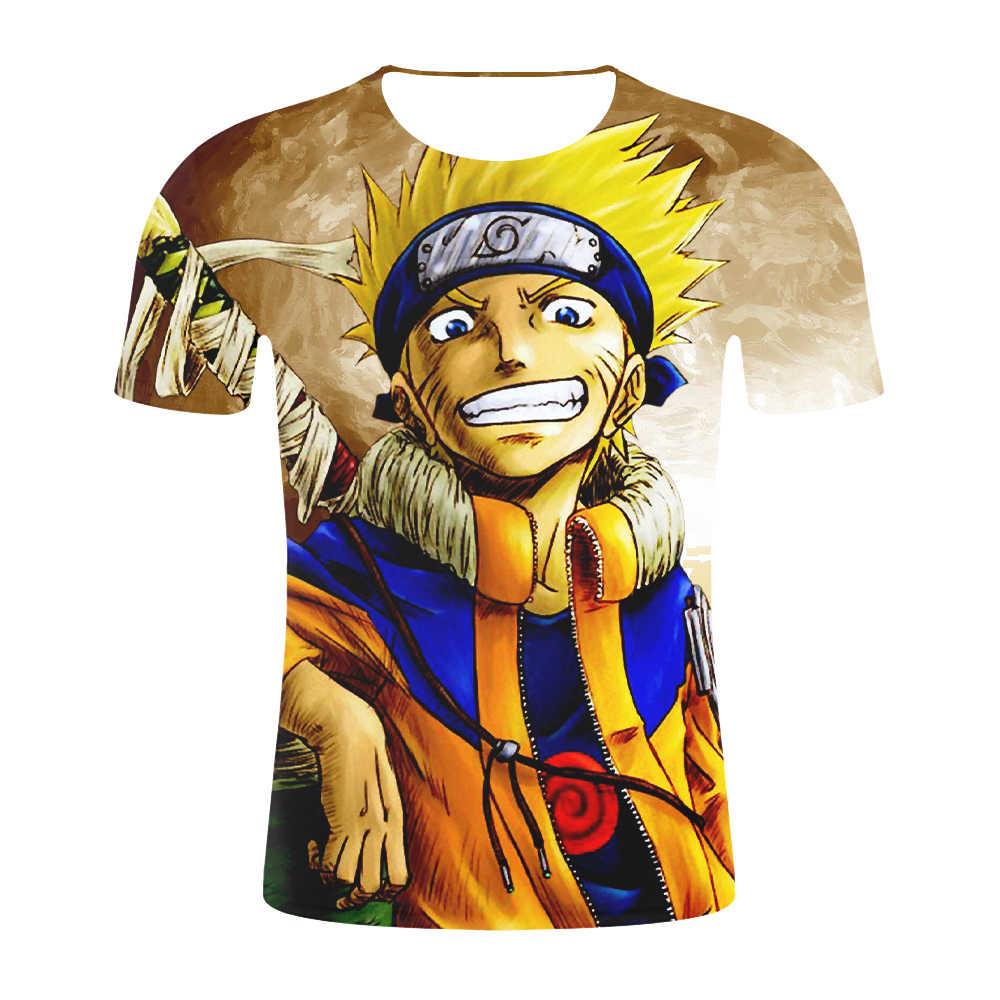 Nuevo 2019 Aikooki 3D Naruto camiseta hombres/mujeres moda Streetwear Hip Hop Harajuku 3D estampado Naruto hombres t camisa Hombre Ropa superior