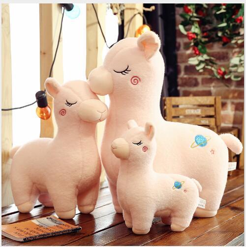 WYZHY nouveau mignon alpaga poupée oreiller en peluche jouet pour envoyer les filles must-have vacances cadeaux 60 CM