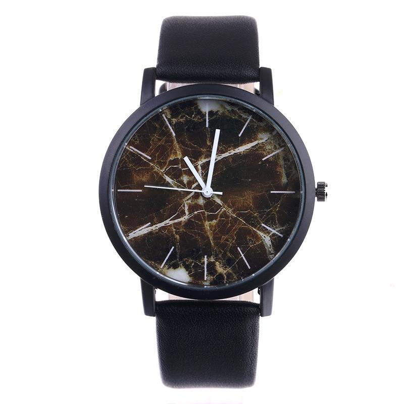 New Original  Brand Marble Style Watches Men Women Sport Casual Quartz Watch High Quality Leather WristWatch Hot Sale Relogio