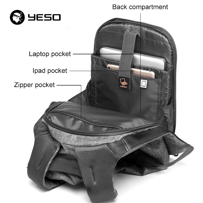 YESO irregular laptop backpack: Multifunctional linen style, high volume and high quality
