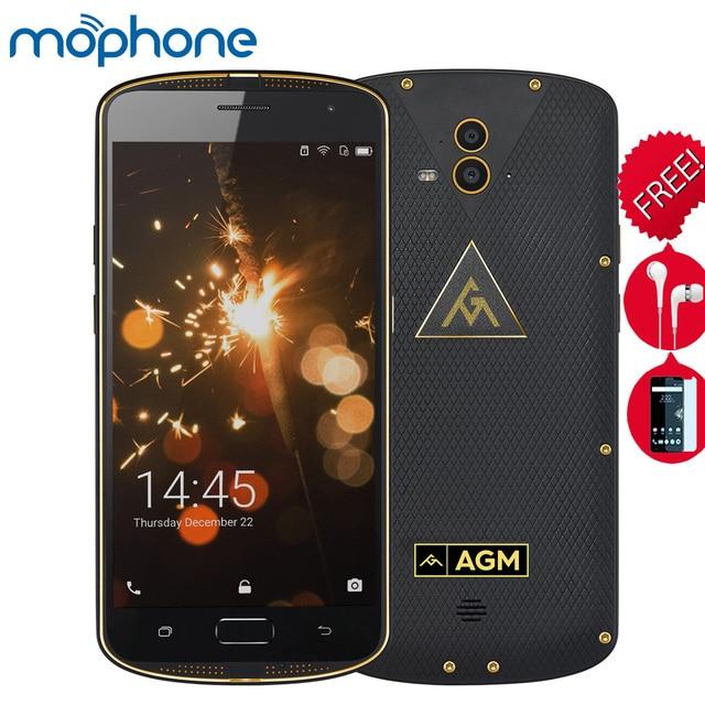 "Agm x1มาร์ทโฟนไตรหลักฐานip68 4กรัม5.5 ""q ualcomm s napdragon 617 o cta-core 4กิกะไบต์+ 64กิกะไบต์13.0mp dualด้านหลังกล้อง5400มิลลิแอมป์ชั่วโมงโทรศัพท์มือถือ"
