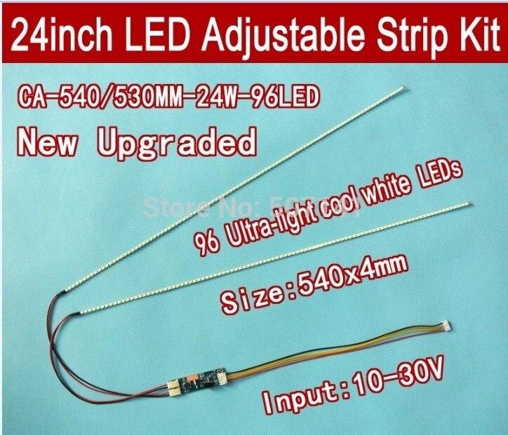 Free Shipping 10PCS 490mm Adjustable Brightness Led Backlight Strip Kit,Update 22inch-wide LCD CCFL Panel To LED Backlight