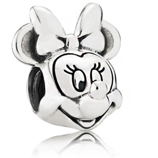 Hot Sale Silver Color Cute Animal Mickey Charms Beads Fit Pandora Bracelets & Bangles for Women DIY Jewelry Birthday Gift Making(China)
