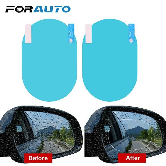 2PCS/Set Car Accessories Anti Fog Rainproof Car Mirror Window Clear Film Anti-glare Waterproof Car Sticker Driving Safety