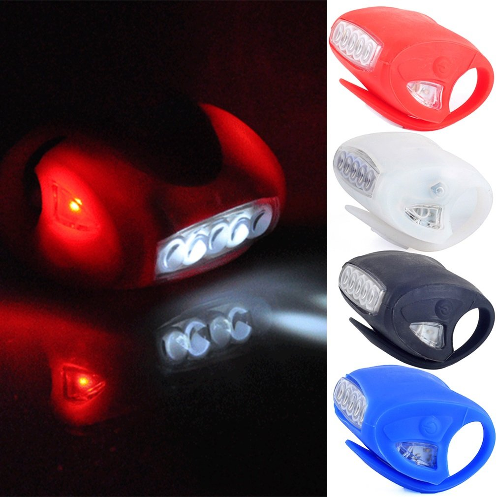 Hot Sale Bike Head flash light Cycling 7 LED Silicone Front Lamp Safety Warning Head Light Highlight LED
