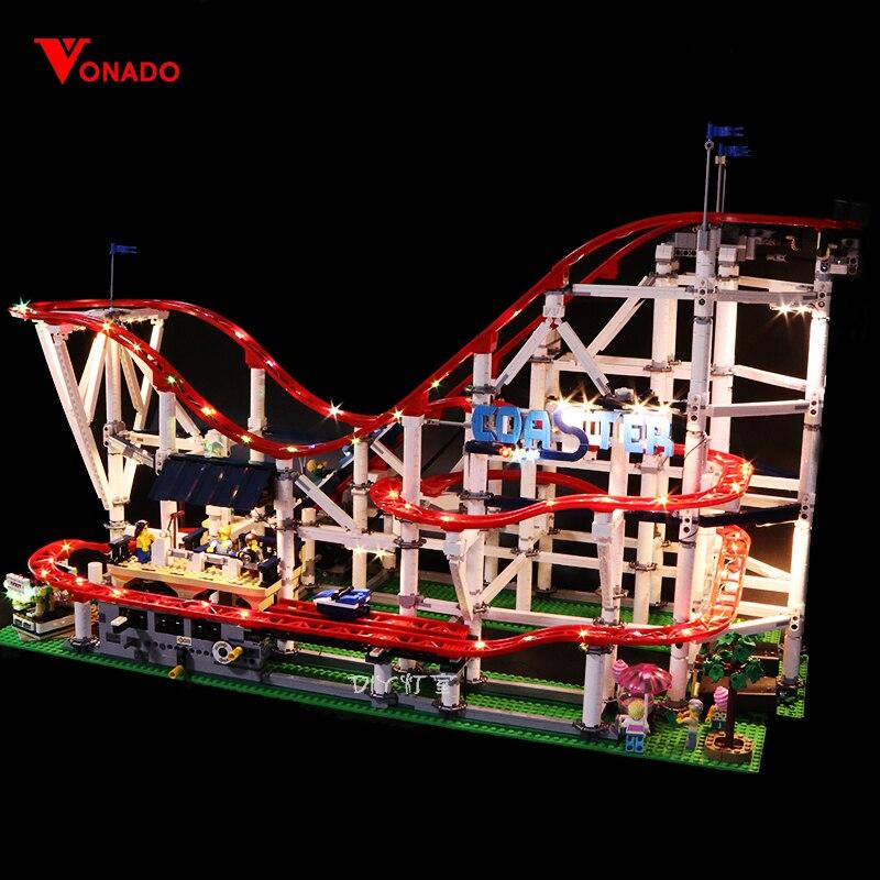 Zestaw światła Led do obsługi Lego 10261 roller coaster kompatybilny 15039 miasto creator klocki klocki zabawki (tylko LED światło) w Klocki od Zabawki i hobby na  Grupa 1