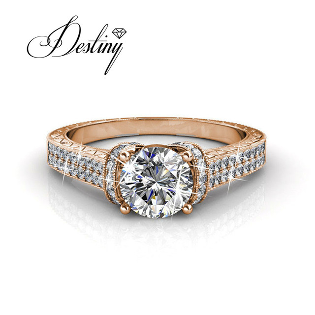 Destiny Jewellery Wedding Rings Embellished With Crystals From Swarovski Ring Eve Dr0178