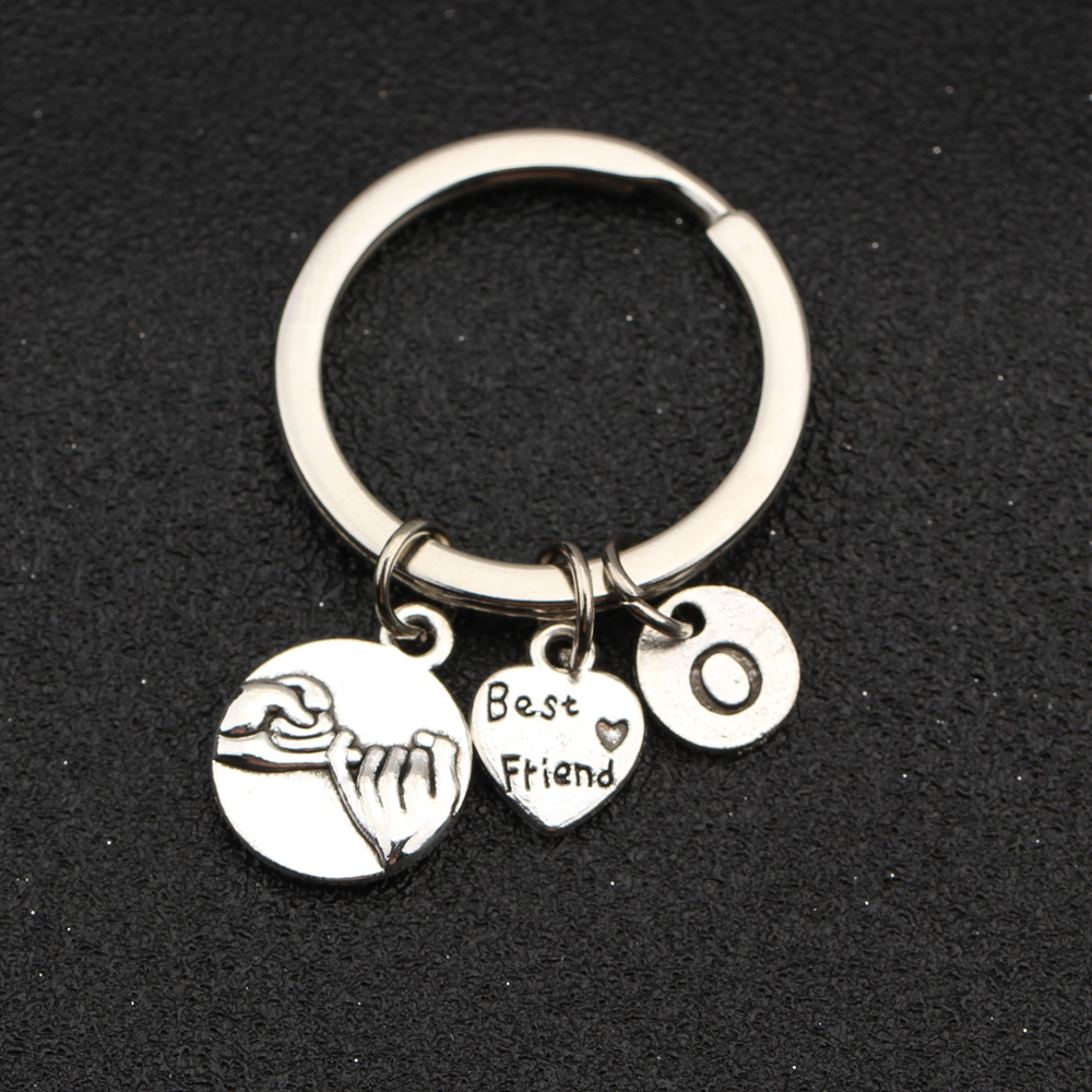 2 BEST FRIENDS KEY RING BAG CHARMS Tibetan Silver Pinky Promise charms Gift