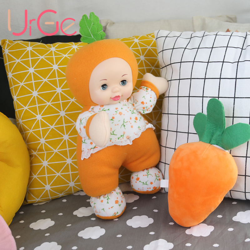 URGE Kawaii drôle de bande dessinée en peluche jouet Carotte poupée en peluche poupées jouets en peluche pour les filles dormir compagnon de jeu anniversaire cadeau de Noël