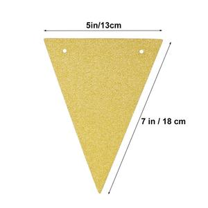 Image 4 - 3 Meters Babys Birthday Banners Multicolor Glitter Pennant Flags Garland Streamer Baby Room Nursery Hanging Decor