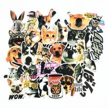 30 шт./компл. Kawaii собака Кот с принтом панды и животных ПВХ наклейки для Pad чехол для телефона Ноутбук Автомобильное скейтборд шлем велосипеда костюм чехол игрушки