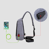 TOP POWER Men Bag New Anti Theft USB Charge Men S Chest Pack Waterproof Oxford Men
