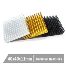 Free shipping 10pcs 40 x 10mm Aluminum CPU Card Cooling Cooler Heat Sink Heatsink