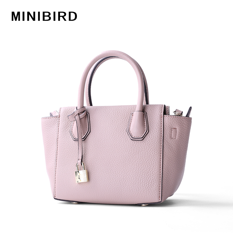 2017 Girls Fashion Mini Wing Bag Lady Fresh Purplish Pink Genuine Leather Totes Handbag Women Messenger Crossbody Shoulder Bag