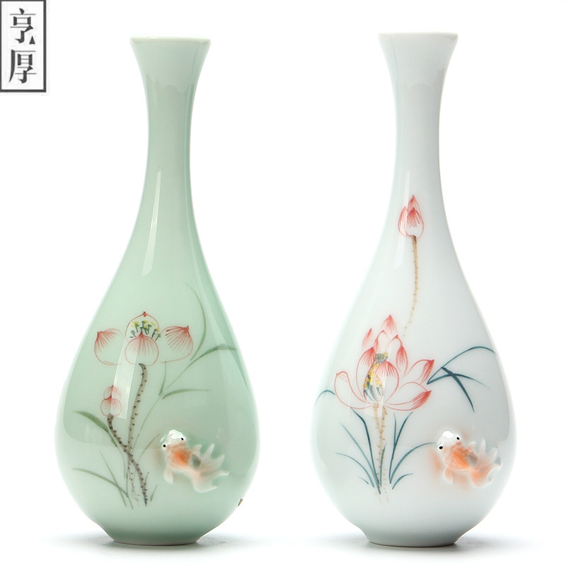 2018 Vintage Home Decoration Vases Antique Ceramic Flower Vase Pot China  Hand Painted Chinese Porcelain Vase Flower Receptacle  In Vases From Home U0026  Garden ...