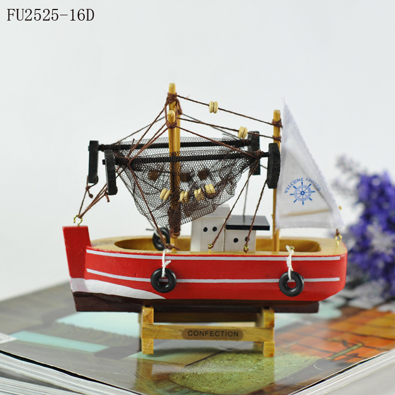 Ocean Series Mediterranean Home Decor Handmade Wooden Fishing Boat Model Ship Made Ornaments On Aliexpress Alibaba Group