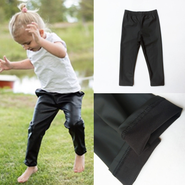 Aliexpress.com : Buy 1 5year skinny black kid leather pants girl ...